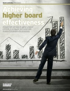 Achieving Higher Board Effectiveness Ethical Boardroom