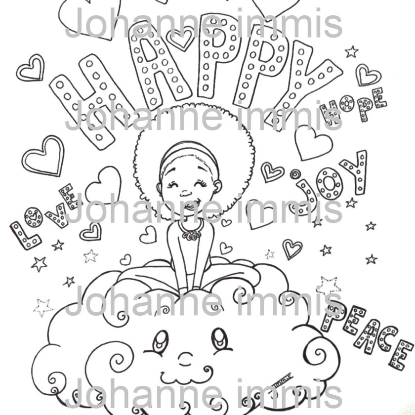 aesthetic art printable coloring page digital coloring page