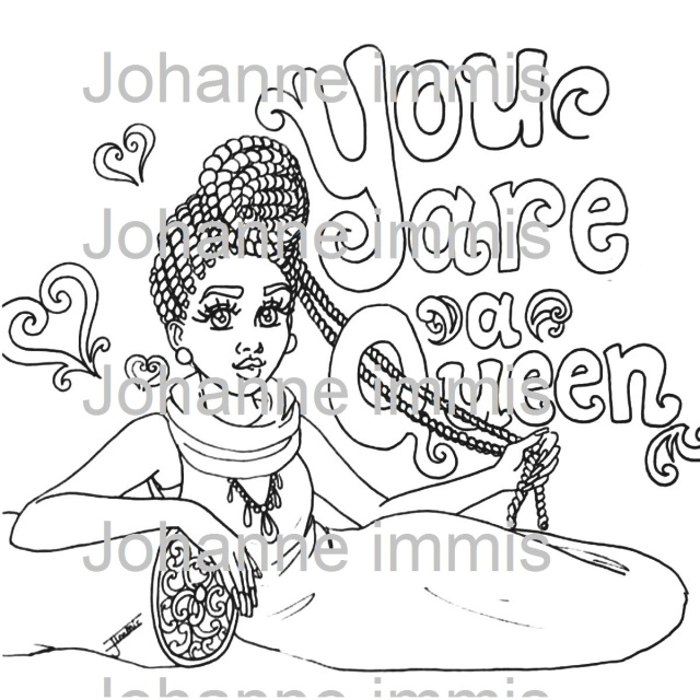 Aesthetic Art, Digital Coloring Page, Printable Coloring Page