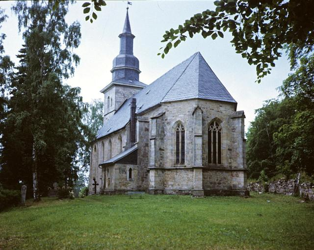 Die renovierte St. Veits-Kirche von Crock, Foto: JZ 1986