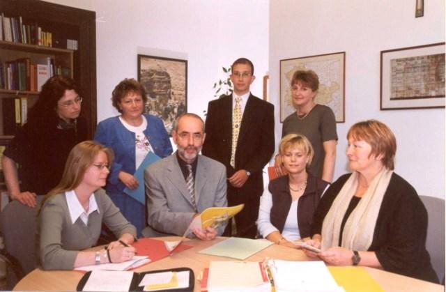 Die Mitarbeiter im Schulreferat, Landeskirchenamt Eisenach.