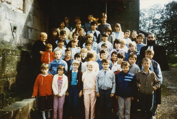 Nach dem 1. Kinderabendmahl 1986, Kirche Crock.