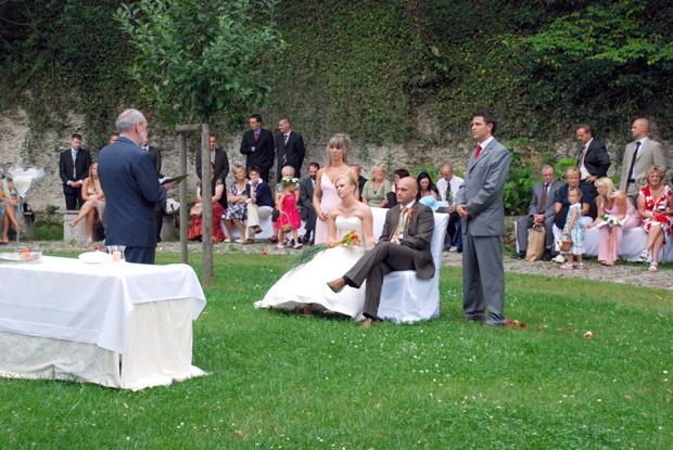 Andacht zur Eheschließung, Juli 2007, Dornburger Schlösser