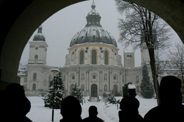 Kloster Ettal / Steingaden im Dezmber 2007.