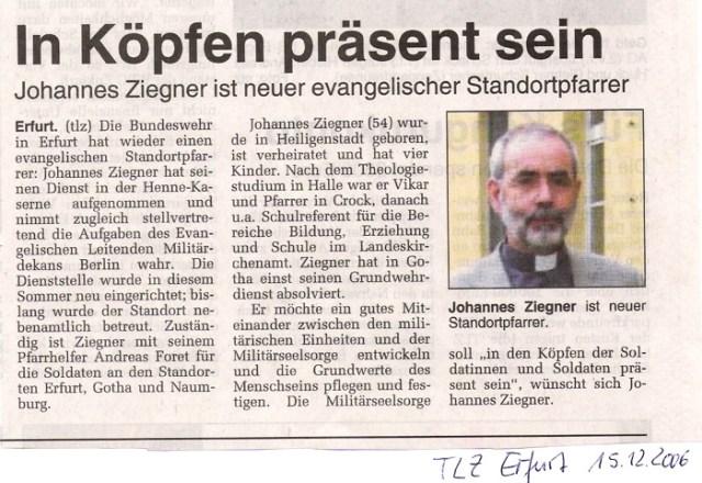 Zeitungsausschnitt Thüringer Landeszeitung.