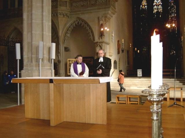 Katholischer Militärdekan und Evangelischer Militärseelsorger Johannes Ziegner, Erfurter Dom.