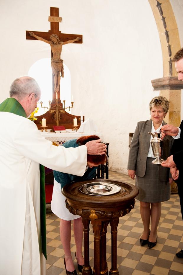 Taufe in der Kirche Threna, Ostern 2009