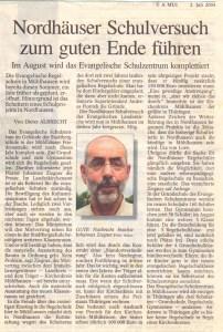 Thüringer Allgemeine vom 02.07.2004.
