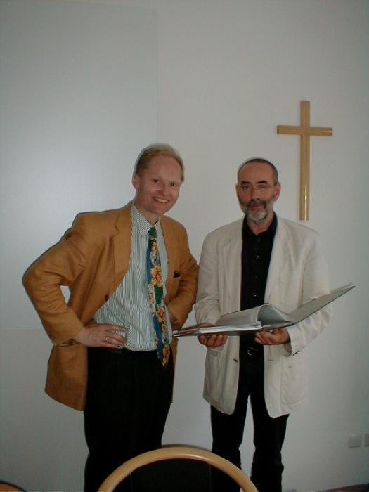 Prof. Dr. M. Schreiner und Schulreferent.