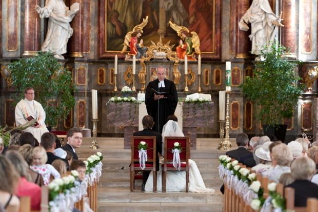 Ökumenische Trauung, Katholische Kirche Dossenheim / Heidelberg, 2011.