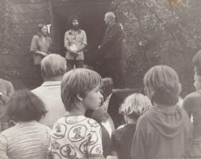 Begrüßung durch Kirchgemeinde und Kirchenältesten Herrn Geiger, 1980