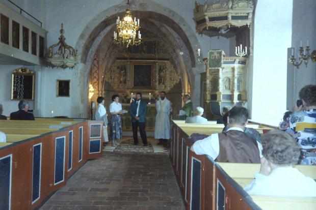 Gottesdienst in der Kirche Stoby / Hässleholm 1995