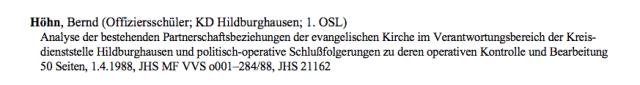 Stasihochschule...