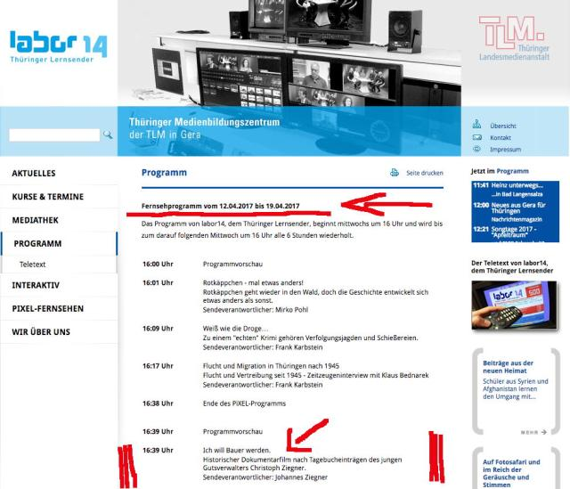 Fernsehprogramm TLM Gera