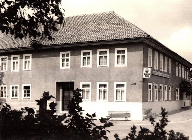 "Postkarte Crock, ""Gasthof zum Grünen Baum"""