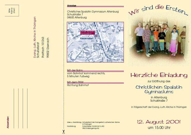 Einladung zur Eröffnung