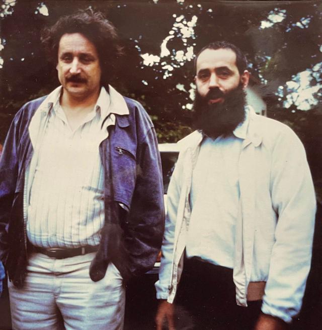 Ludwig Güttler und Pfarrer J. Ziegner 1989