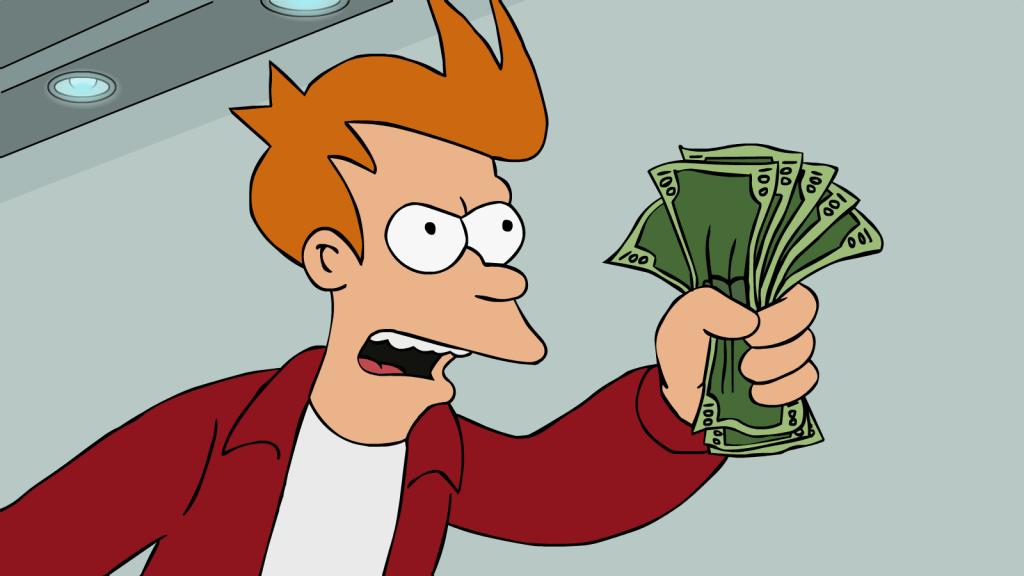 Výsledek obrázku pro money spending cartoon