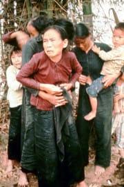 Group of civilian women and children rou