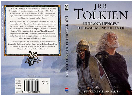 Book jacket for Finn and Hengist, copyright John Howe and Random Books