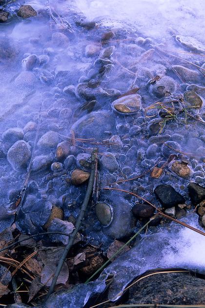 Saint Vrain River Ice, Indian Peaks Wilderness, Colorado (2009) Velvia