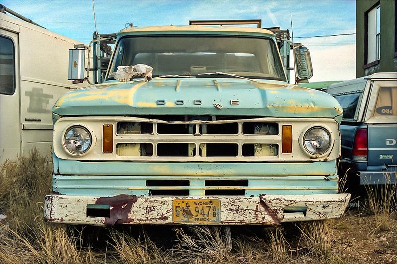 Old, Wyoming Dodge flatbed, Cowdrey, Colorado (2013)