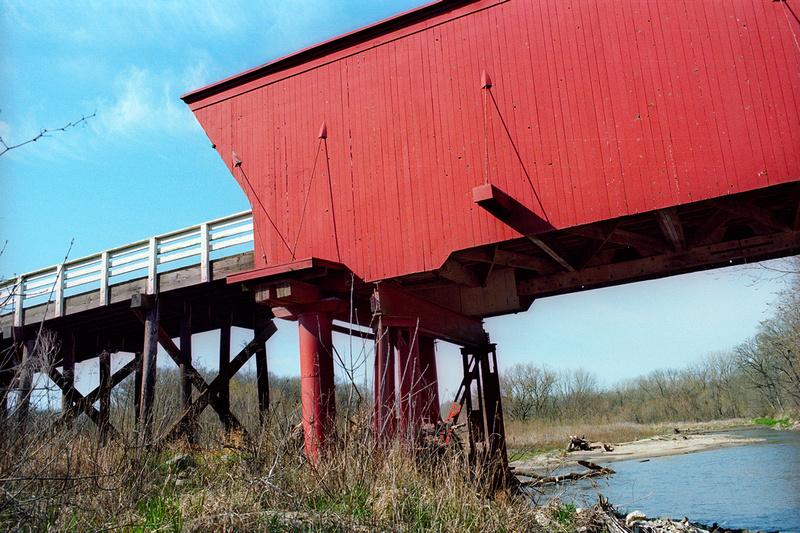 Roseman Bridge, Madison County, Iowa. Portra 160 + Nikon F6
