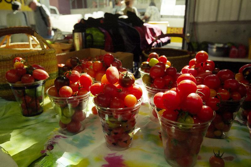 Cherry tomatos at the Santa Fe Farmer's Market (2014)