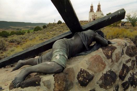 Stations of the Cross sculpture exhibit at Sangre de Christo Parish, San Luis, Colorado (2014)