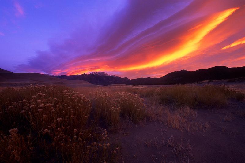 Sangre de Cristo sunrise, San Luis Valley, Colorado
