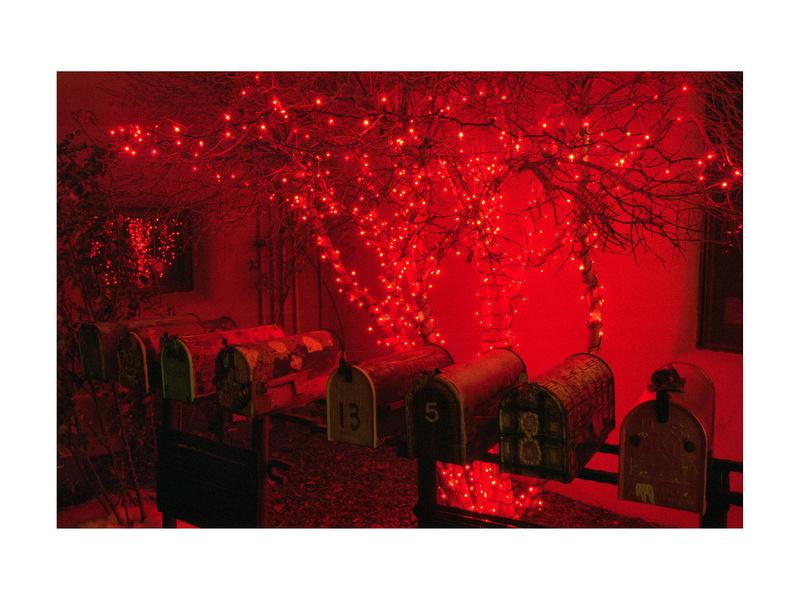 Christmas lights in Gypsy Alley, Santa Fe, New Mexico (2013)