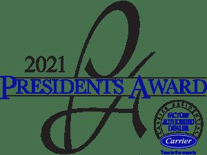 carrier 2021 president's award badge