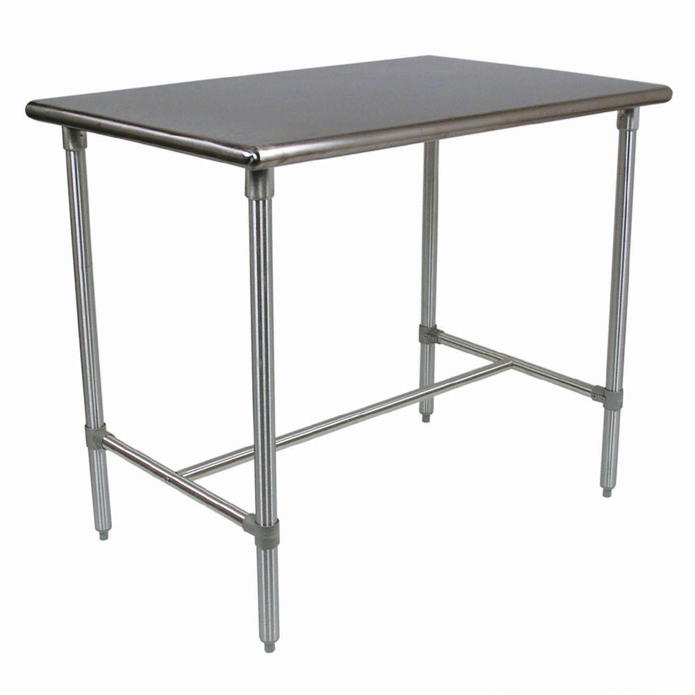 steel kitchen table bench style tables islands stainless work with boos blocks bbss cucina classico top legs