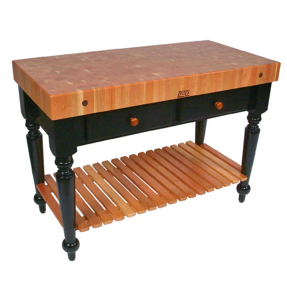 john boos kitchen islands big island tables cherry top with painted blocks rn lr le rustica table 4