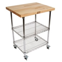 Stainless Steel Kitchen Cart Red Trash Can Products Carts Boos Blocks Met Mwc Metropolitan Wire Maple