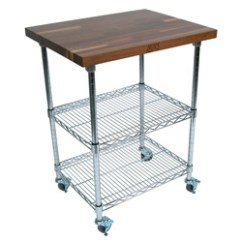 Wire Kitchen Cart Electrical Outlets Products Carts Boos Blocks Met Wwc Metropolitan Walnut