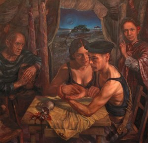"""After Me Comes The Flood' – oil on canvas fine art painting (44"""" high by 46"""" wide), completed in 2008"""