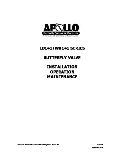Apollo LD141 Series Resilient Seated Butterfly Valves