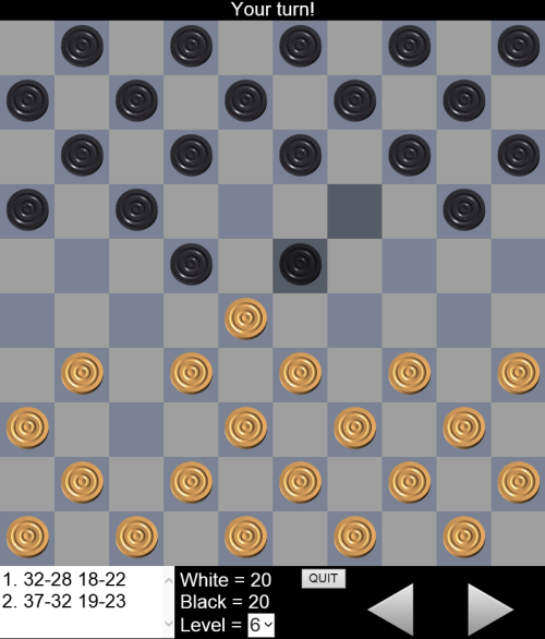 10x10 Draughts