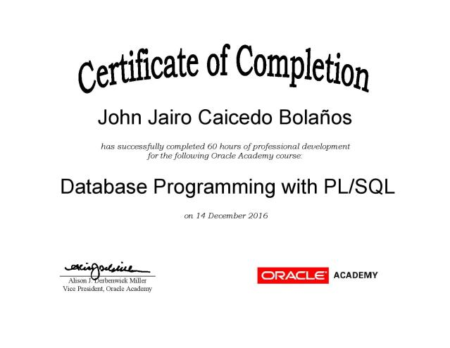 Database Programming with PL/SQL