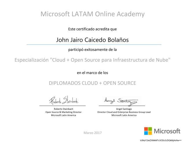 Diplomado «Cloud + Infraestructura de Nube»