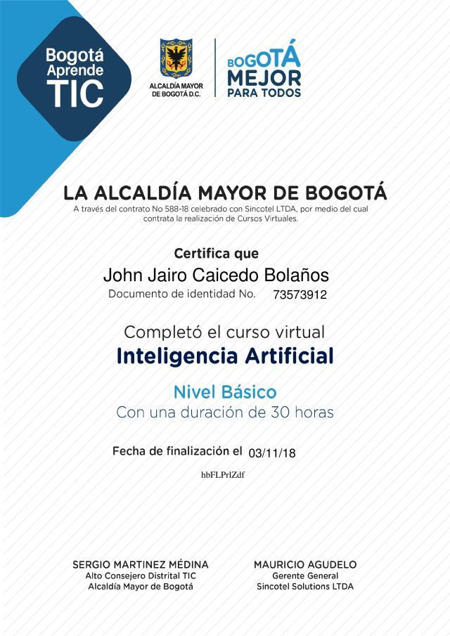 Inteligencia Artificial – Nivel Básico