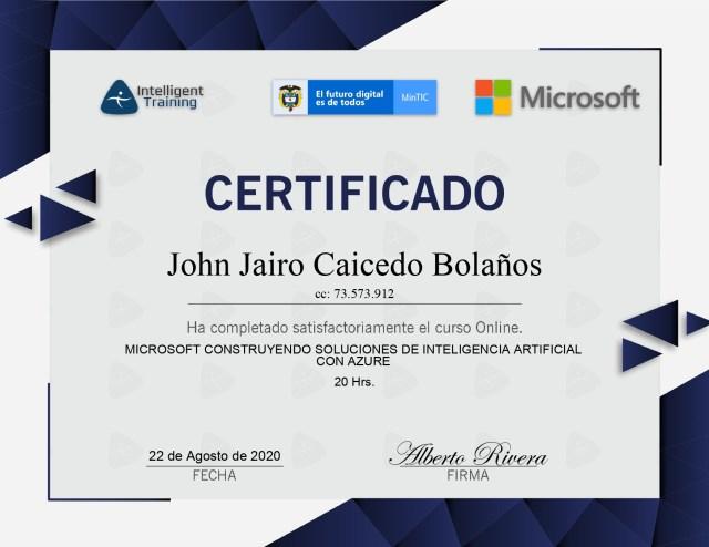 Microsoft Construyendo Soluciones de IA con Azure