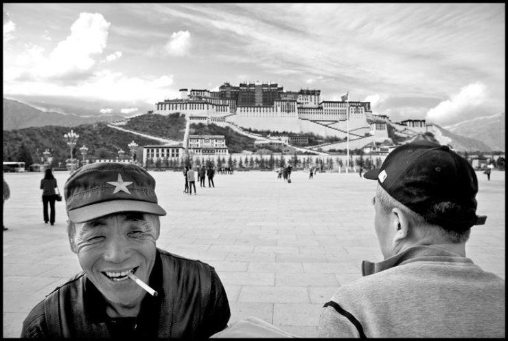 Chinese at Potala Palace in Lhasa, Tibet.