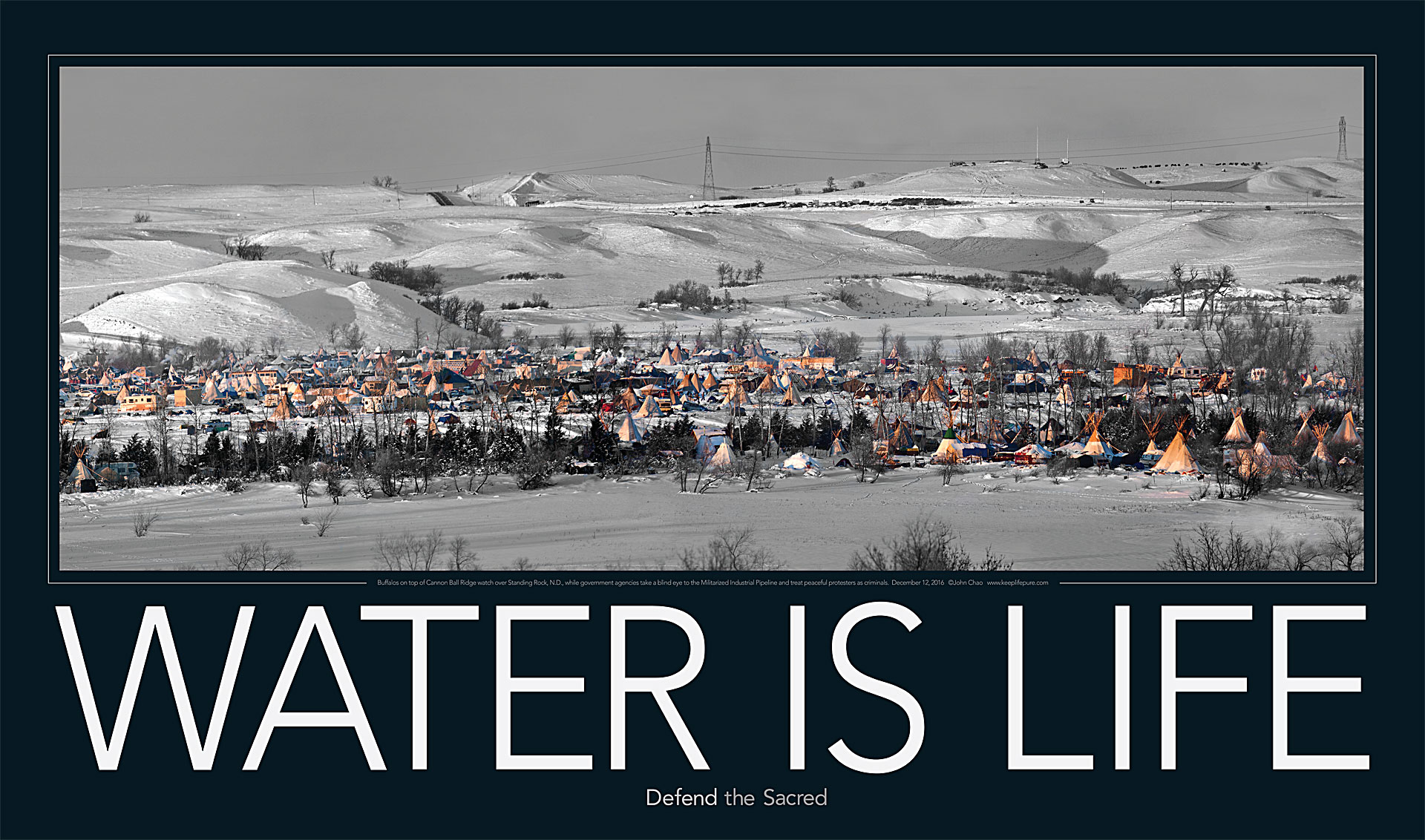 Water is Life Poster from Standing Rock