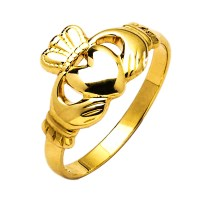 Gold Claddagh Ring - Iona- 10K Gold