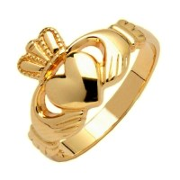 14 K Gold Claddagh Ring MAde in Ireland Hallmarked