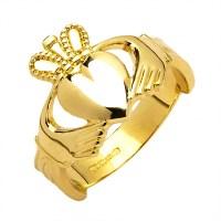 Gold Claddagh Ring 10 Karat Gold