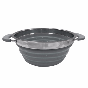Kampa Dometic Collapsible Colander Grey – Collapsible Kitchenware