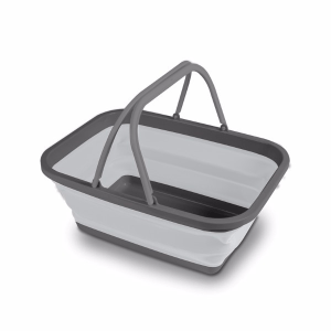 Kampa Dometic Medium Collapsible Washing Bowl Grey – Collapsible Kitchenware – 9120001402